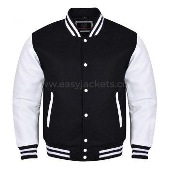 Black & White Varsity Jacket