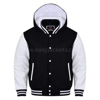 Black & white Hoodie Jacket