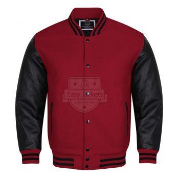 Light Maroon Melton Wool Jacket