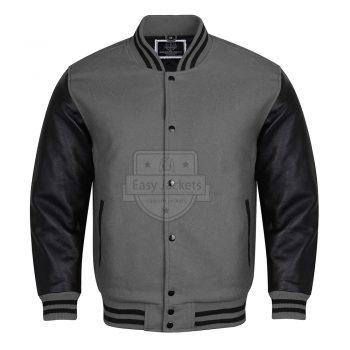 Dark Gray Melton Wool Jacket