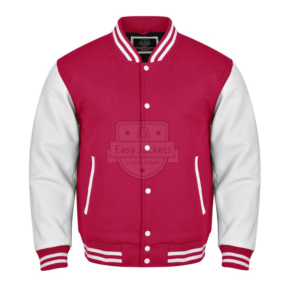 Pink colour jacket with white colour hand