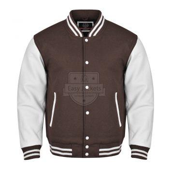Dark Brown Varsity Jacket