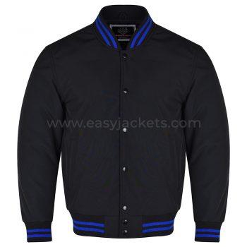 Black Softshell varsity Jacket